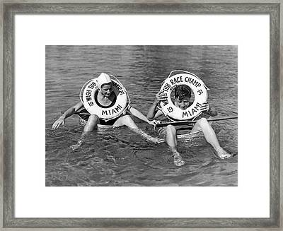 Miami Washtub Winners Framed Print by Underwood Archives