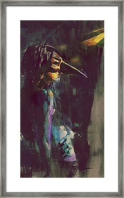 Miasma Plague Doctor Framed Print