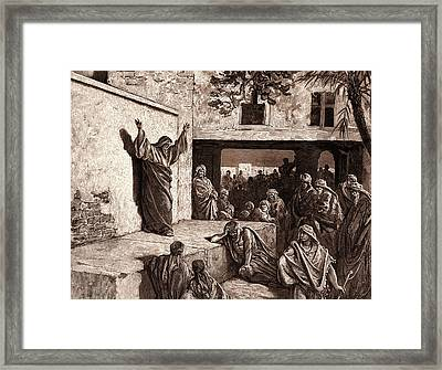 Micah Exhorting The Israelites Framed Print