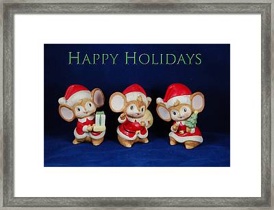 Mice Holiday Framed Print