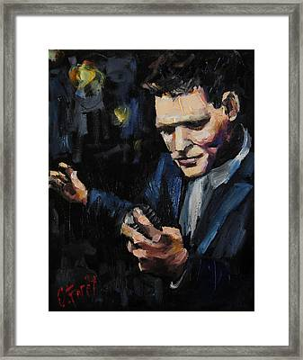 Michael Buble Framed Print by Carole Foret