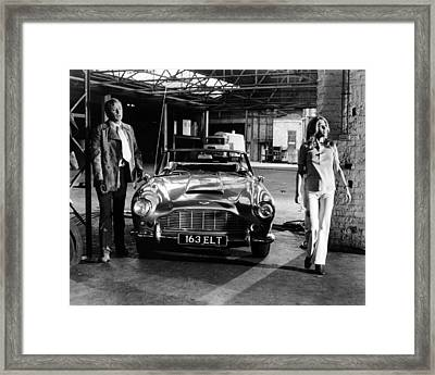 Michael Caine In The Italian Job  Framed Print by Silver Screen