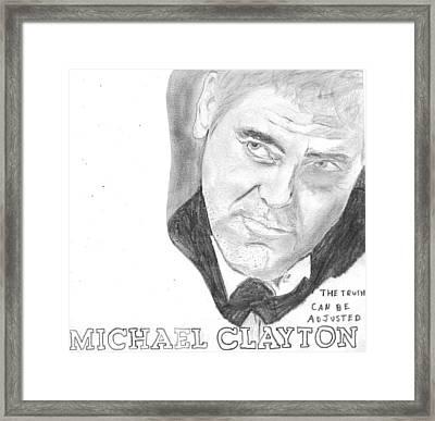 Michael Clayton Framed Print by Sean Cordy