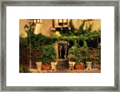 Michael Corleone Was Here Framed Print by Mike Nellums