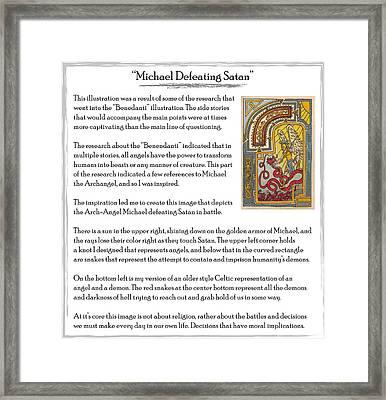 Michael Defeating Satan Story Framed Print