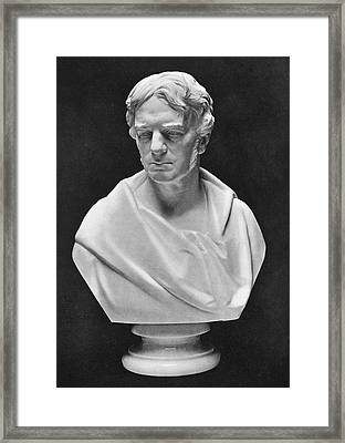 Michael Faraday Bust Framed Print by Science Photo Library