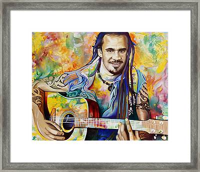 Michael Franti Framed Print by Joshua Morton
