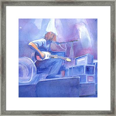 Michael Houser From Widespread Panic Framed Print by David Sockrider
