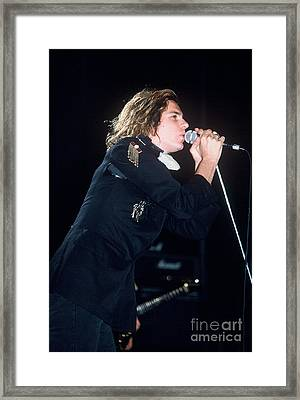 Michael Hutchence Framed Print by David Plastik