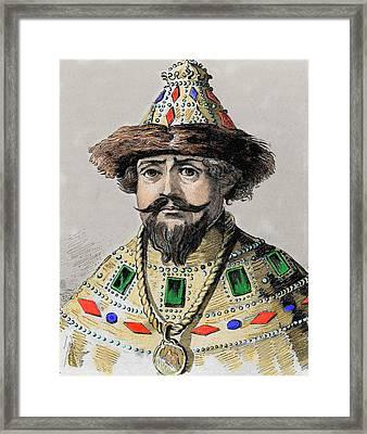 Michael I (mikhail Fyodorovich Romanov Framed Print by Prisma Archivo