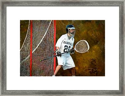 Michael In Goal Framed Print