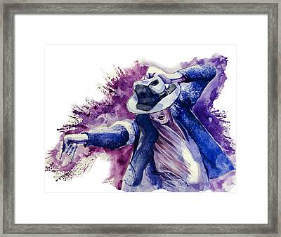 Michael Jackson 10 Framed Print by Bekim Art