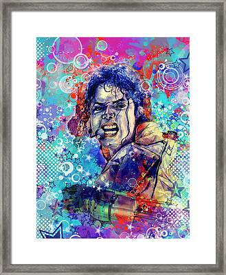 Michael Jackson 11 Framed Print by Bekim Art