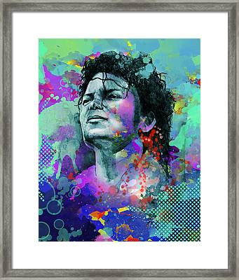 Michael Jackson 12 Framed Print by Bekim Art