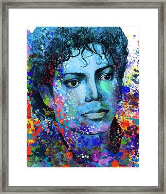Michael Jackson 14 Framed Print by Bekim Art