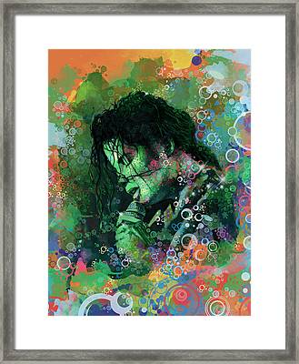 Michael Jackson 15 Framed Print by Bekim Art