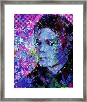 Michael Jackson 17 Framed Print by Bekim Art