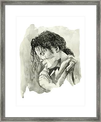 Michael Jackson 3 Framed Print by Bekim Art