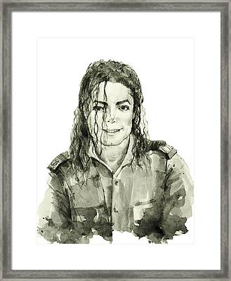 Michael Jackson 4 Framed Print by Bekim Art