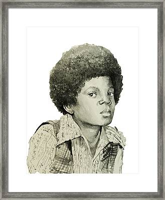 Michael Jackson 5 Framed Print by Bekim Art