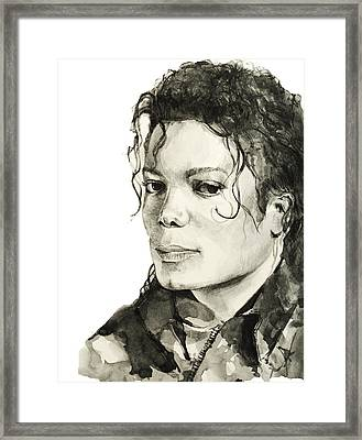 Michael Jackson 6 Framed Print by Bekim Art