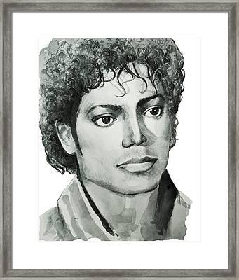 Michael Jackson 7 Framed Print by Bekim Art