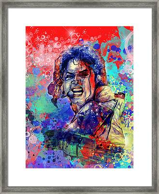 Michael Jackson 8 Framed Print by Bekim Art