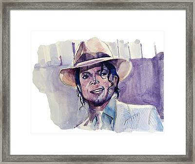 Michael Jackson 9 Framed Print by Bekim Art