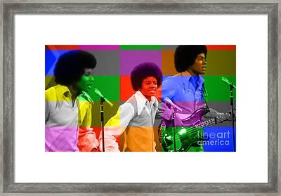 Michael Jackson And The Jackson 5 Framed Print