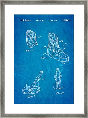Michael Jackson Anti Gravity Boot 2 Patent Art 1993 Blueprint Framed Print by Ian Monk