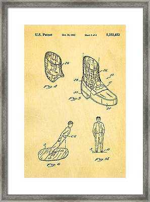 Michael Jackson Anti Gravity Boot 2 Patent Art 1993 Framed Print by Ian Monk