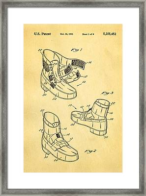 Michael Jackson Anti Gravity Boot Patent Art 1993 Framed Print by Ian Monk