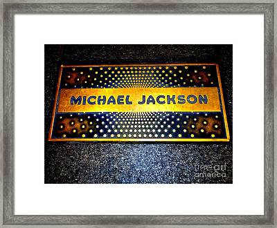Michael Jackson Apollo Walk Of Fame Framed Print by Ed Weidman