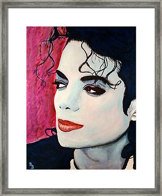 Michael Jackson Art - Full Color Framed Print by Bob Baker