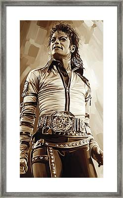 Michael Jackson Artwork 2 Framed Print by Sheraz A