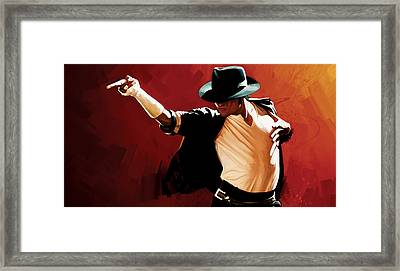Michael Jackson Artwork 4 Framed Print by Sheraz A