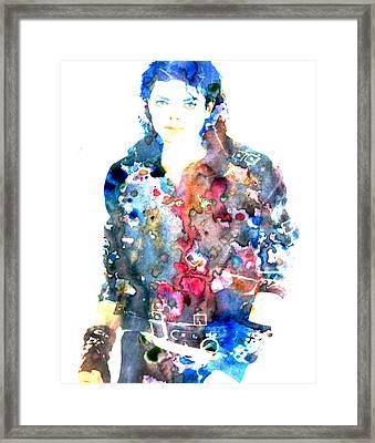 Michael Jackson Bad Framed Print by Brian Reaves