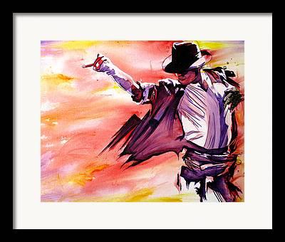 Thriller Paintings Framed Prints
