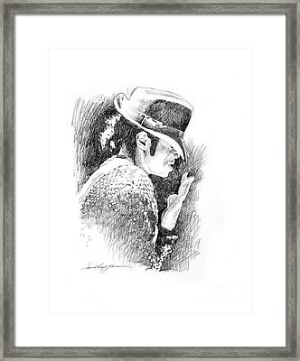 Michael Jackson Hat Framed Print by David Lloyd Glover