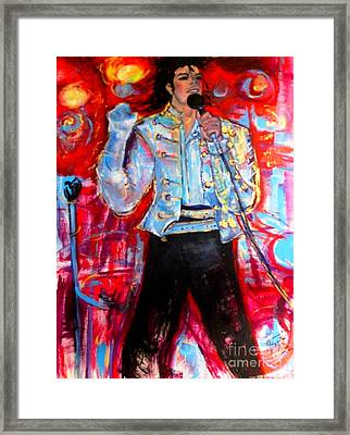Michael Jackson I'll Be There Framed Print