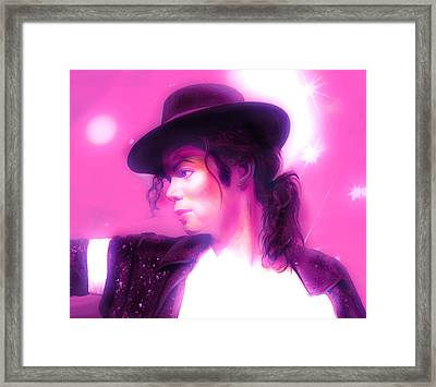Michael Jackson King Of Pop Framed Print by Gina Dsgn