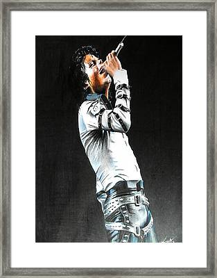 Michael Jackson Live Bad Tour 1988 Framed Print