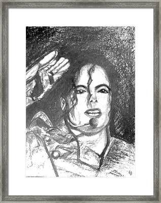 Michael Jackson Framed Print by Marcello Cicchini
