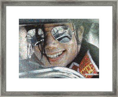 Michael Jackson - Mosaic Framed Print by Paulette B Wright