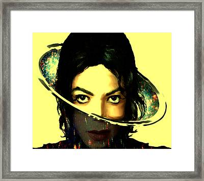 Michael Jackson Out Of This World Framed Print by Brian Reaves