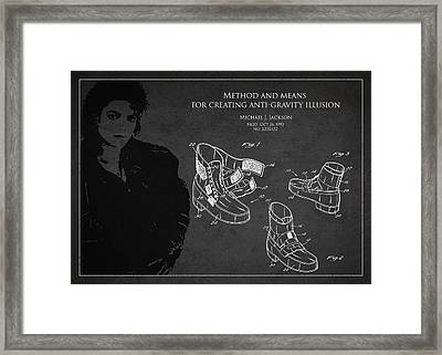 Michael Jackson Patent Framed Print by Aged Pixel