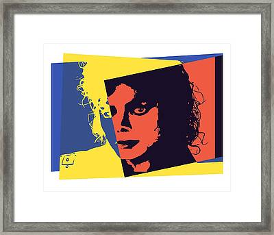 Michael Jackson Pop Art Framed Print by Dan Sproul