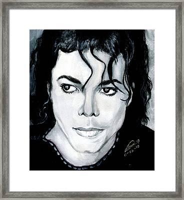 Michael Jackson Portrait Framed Print