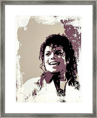 Michael Jackson Portrait Art Framed Print by Florian Rodarte