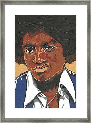 Framed Print featuring the painting Michael Jackson by Rachel Natalie Rawlins